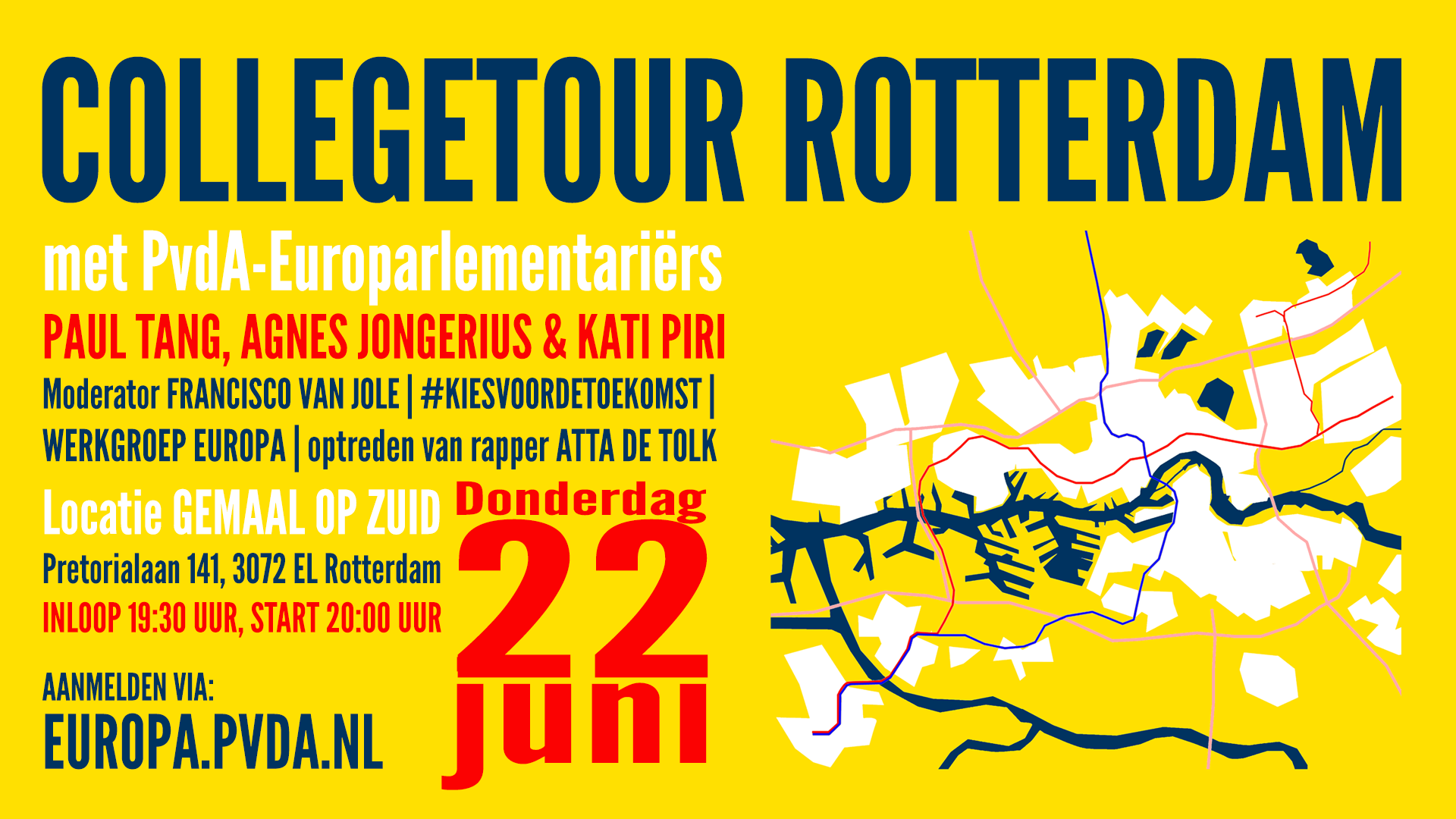 Social media Rotterdam Europa Collegetour